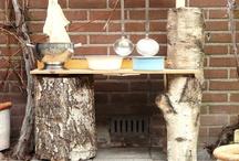 Modderkeuken / mud pie kitchen / Inspiratie voor een modderkeuken voor onze zoons