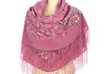 Russian silk scarves and shawls