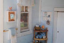 Dollhouse bathrooms / Tutorials and inspiration