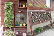 Jardins Verticais  |  Vertical Garden / Ideias criativas para ter um jardim mesmo em espaços pequenos!