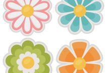 Spring / Flowers, trees, bee,