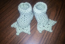crochet baby slippers/shoes