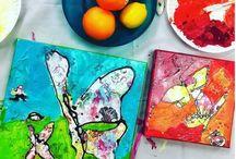 Mixed Media Painting Tips & Tutorials