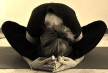 Yoga forward bending asanas