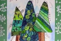 Winter Elementary Art Projects / by Sarah A C