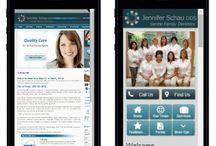 Dental Mobile Website Design / Check out photos of AIM Dental Marketing's mobile website designs.