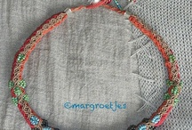 micro macrame necklaces / macrame/ micro macrame necklaces by Margroetjes or others