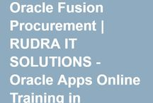 Oracle Fusion Procurement cloud Training / Rudra IT Solutions is one of the Promote leading IT Services and Oracle Fusion Procurement Online Training  solutions along with IT Online training conservatory, with latest Industry offering technology in Hyderabad,India, USA, UK, Australia, New Zealand, UAE, Saudi Arabia,Pakistan, Singapore, Kuwait. _http://www.rudraitsolutions.com/fusion-applications/oracle-fusion-procurement.php