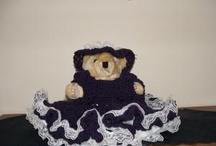 CROCHET KRAZY~DOLLS~TEDDY BEARS / Teddy bear bed dolls, and clothing.
