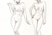 my model and portrait sketches / fast model sketches and so on