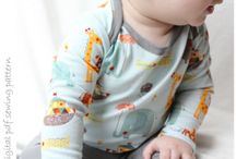 Baby Sewing Patterns - Sizes NB to18-24mo by petitboo - Digital pdf Sewing Patterns