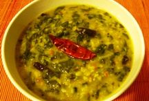 Healthy Dals & Soups / Dals and soups (i.e., lentil soups) have been a part of Indian food from times immemorial. In India, the simple but wholesome dal-chawal (lentil soup-rice), and dal-roti (lentil soup and flat bread) are enjoyed by all, whether vegetarian or not. Every Indian household has its own favorite recipe for dal.