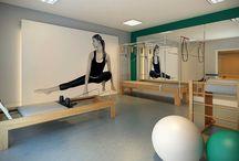Pilates studio decor