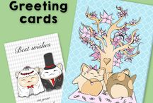 Wishing cards and envelopes