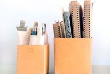 Ham Lerche : Stationery Leathergoods / Our collection of stationery leathergoods.