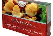 Chilean Gourmet Seafood / The Geomar brand of gourmet seafood products are one of the most popular items that we carry. The taste of these freshly caught sea food off the coast of Chile are perfect for completing that masterpiece creation seafood dish or simply eating it straight out of the can.