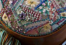 embroidery, needlework, beautiful