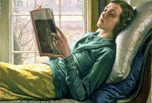 women reading art