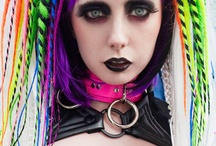 Cyber Goth/ Cyber punk and other cyber types / Cyber goth/punk fashion / people / accessories