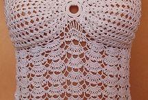 crochet/knitt cloth - bikini, top, dresses