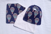 Baby Bib and Burp Cloths / Home made Bib and Burp Cloth Sets. Made by Lilmooch. See store on Etsy.