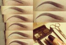 макияж, брови, прически