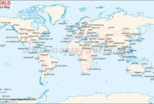 World map - cities