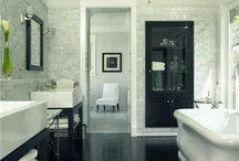 Black and white bathroom / Inspiration for a new bathroom