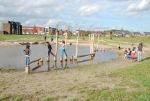 Park Uden Zuid / In de nieuwbouwwijk Uden Zuid is zojuist een nieuw park gerealiseerd met robinia speeltoestellen en natuurlijk spelen, mede door SICURO