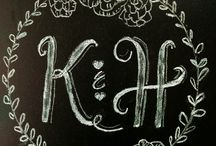 Chalkboard Design and Signs / Chalkboard designs and sign ideas for your wedding and events.