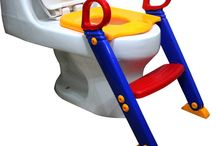 Baby Potty Chair Toddler Safety Training Ladder Toilet Seat Step Teach Bath Room