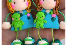 Muñecas llavero