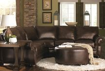 Green gold and chocolate living rooms