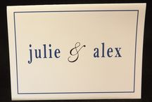 Thank You Notes / Customized Thank You notes for after your big day! Personalize them with a message on the inside.