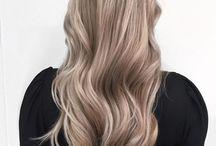 Beige blond hair