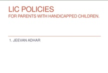 Insurance for Children with Disability - India