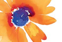 Watercolor Flowers / Tutorials And examples