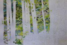 Puu-akvarelleja