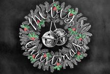 Pizarra navidad