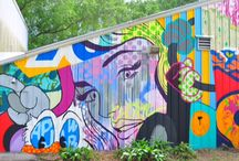Playground Kable Ave / Mural themes; Byron, New Orleans Music, Architecture, New York, Robot, Adult themes. No Australiana