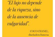 Frases de Coco Chanel.