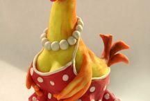 Dekorative høns
