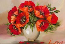 veldbloemen klaprozen korenbloem margriet