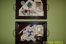 Shadow box ideas / Making shadow boxes with mom and dad's keepsakes.