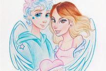 Erick Mafra ♡  Erick e Nah by @alefvernonart esse garoto é um anjo, recebi essa ilustração linda no #DiaDeAmarInfinito ♡