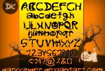 Spooky Halloween Font Style / by Anthony Pillos