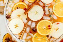 świąteczne jedzenie i napoje