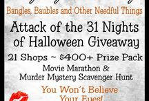 Attack of the 31 Nights of Halloween Giveaway 2013 / WIN A $400+ PRIZE PACK FROM 24 SHOPS ~ Attack Of The 31 Nights Of Halloween Giveaway ~ Murder Mystery Scavenger Hunt & Movie Marathon ~ October 1st - 31st at the Laughing Vixen Lounge Blog bit.ly/aO3Z9Z
