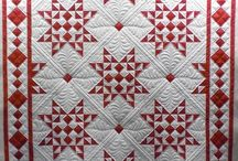 Patchwork - red and white