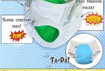 Super Undies Pull-On Undie  /   Super Undies Pull-On Potty Training Pants are completely waterproof through the wet zone, but made with super stretchy side tabs for easy on and off action, not to mention super cute!